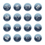 Mineral drop finance icons Royalty Free Stock Images