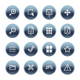 Mineral drop image viewer icon stock illustration