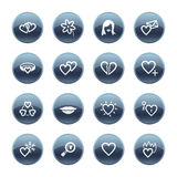 Mineral drop love icons Royalty Free Stock Photography