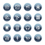 Mineral drop media icons Stock Photography