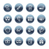 Mineral drop medicine icons Stock Image
