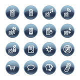 Mineral drop mobile phone icon Royalty Free Stock Image
