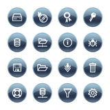 Mineral drop server icons Stock Photos