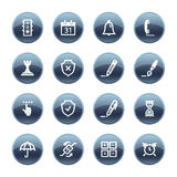 Mineral drop software icons stock illustration