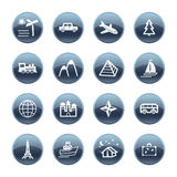 Mineral drop travel icons Stock Image
