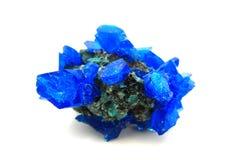 Mineral för blå vitriol arkivfoto