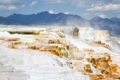 Mineral flow in yellowstone Stock Photography
