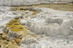 Mineral Formation. Hot Spring terrace mineral formation royalty free stock image