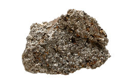 Mineral Galena, a sample. Object is on a white background Royalty Free Stock Photos