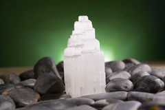 Mineral gypsum selenite Royalty Free Stock Image