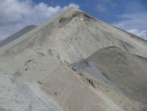 Mineral Heaps in Industrial Stone-Pit Park stock photos