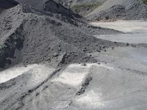 Mineral Heaps in Industrial Stone-Pit Park stock photography