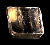 Mineral iceland spar isolated Royalty Free Stock Images