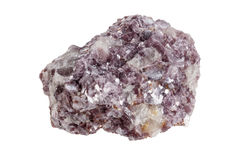 Mineral lepidolite. A sample. Object on a white background Royalty Free Stock Image