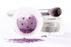 Mineral make up. With brush royalty free stock photography