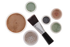 Mineral make-up isolated Stock Photos