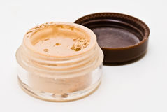 Mineral Makeup in Jar Royalty Free Stock Photography