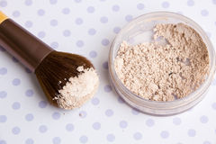 Mineral Makeup powder Royalty Free Stock Image