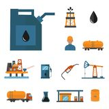 Mineral oil petroleum extraction production Stock Photos
