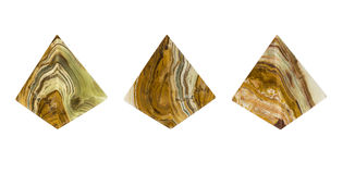 Mineral Onyx pyramid. Stock Photos