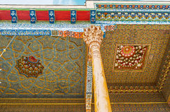 The mineral paints in Uzbek decor Stock Photography