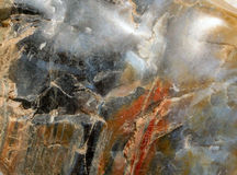 Mineral pattern. Closeup of a colourful stone, interesting background Royalty Free Stock Image