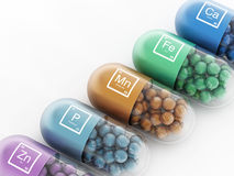 Mineral pills Stock Photo