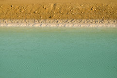 Mineral pond in the Dead-Sea Stock Photo