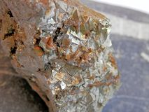Mineral pyrite macro Royalty Free Stock Photography