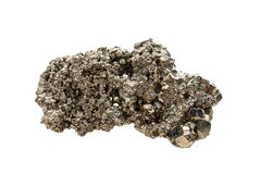 Mineral pyrite. A sample. Object on a white background Stock Image