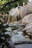 Mineral rock of Bagni San Filippo in Italy Stock Photo