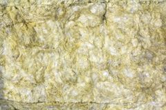 Mineral rock wool insulation material close-up for background.  royalty free stock photography