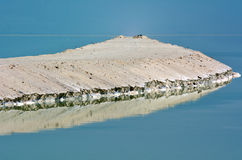 Mineral  salt formation at the Dead Sea, Israel. Stock Photo