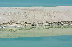 Mineral  salt formation at the Dead Sea, Israel. Stock Image