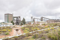 Mineral separation plant near Lutzville. LUTZVILLE, SOUTH AFRICA - AUGUST 13, 2015: A mineral separation plant next to the road between Lutzville and Nuwerus Stock Photos