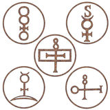 Mineral Spirit Symbols. Symbols Stock Photography