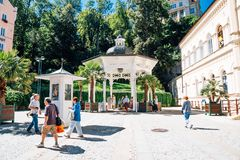 Mineral spring natural hot spring in Karlovy Vary, Czech