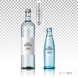 Mineral still or sparkling water bottles mock up. Isolated on transparent background. Vector 3d detailed mock up set Royalty Free Stock Image