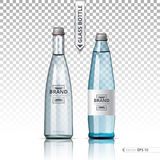 Mineral still or sparkling water bottles mock up. Isolated on transparent background. Vector 3d detailed mock up set Stock Photography