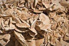 Mineral stone of the desert (sand rose) Stock Photo