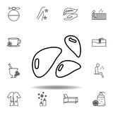 mineral stones outline icon. Detailed set of spa and relax illustrations icon. Can be used for web, logo, mobile app, UI, UX royalty free illustration