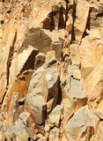 Mineral surface quarry detail Stock Image