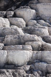 Mineral Terraces at Mammoth Hot Springs. In Yellowstone National Park Stock Photo