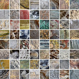 Mineral textures patchwork Royalty Free Stock Image