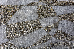Mineral urban  circular pavement texture. Royalty Free Stock Images