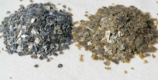 Mineral Vermiculite Samples for Production. Raw Mineral Stock Photo