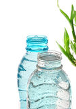 Mineral water. Two bottles of mineral water on isolated background Stock Image
