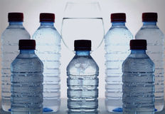 Mineral water. Clear, liquid, supply, drop, purified, health, bubble, splash, aqua, pure, fresh, water, purity, wellness, refreshing, unpolluted, glass, kitchen Royalty Free Stock Image