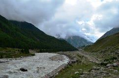 Mineral water, Baspa river in full flow in Himachal Pradesh, India Stock Photo