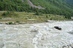 Mineral water, Baspa river in full flow in Himachal Pradesh, India Royalty Free Stock Image